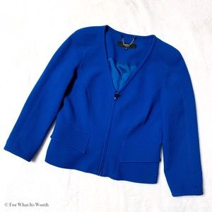 Tibi New York V Neck Wool Blazer